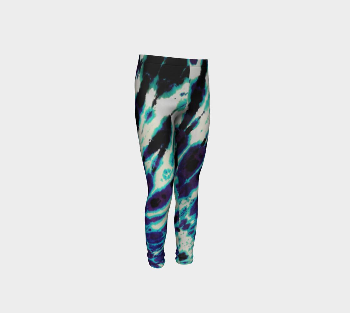 Tie Dye Youth Leggings preview #4