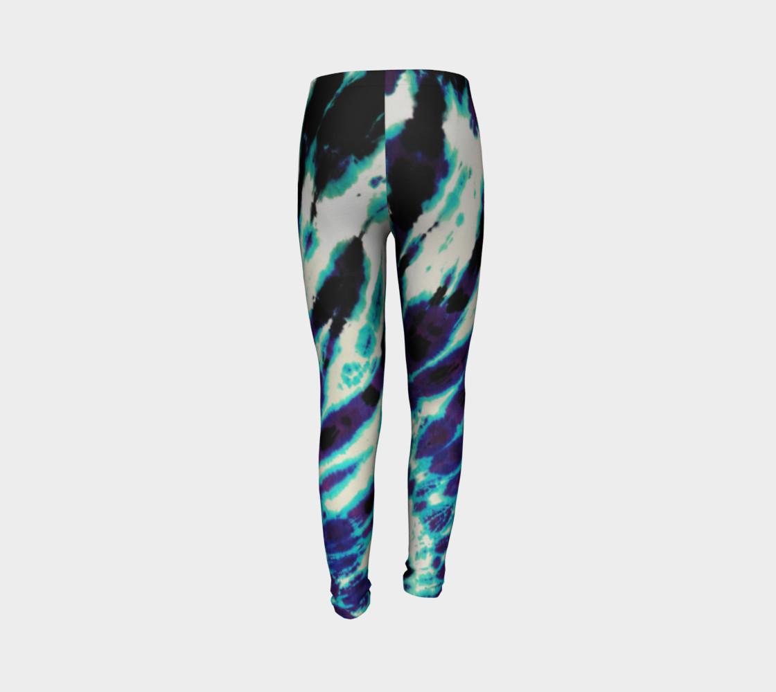 Tie Dye Youth Leggings preview #7