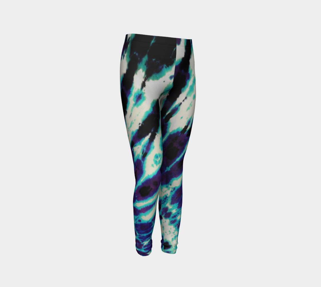Tie Dye Youth Leggings preview #3