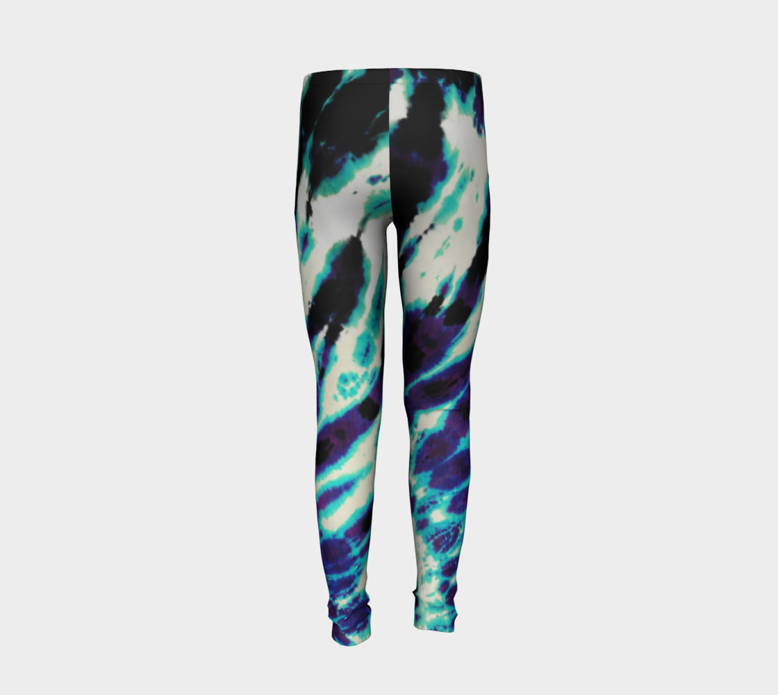 Tie Dye Youth Leggings preview #6