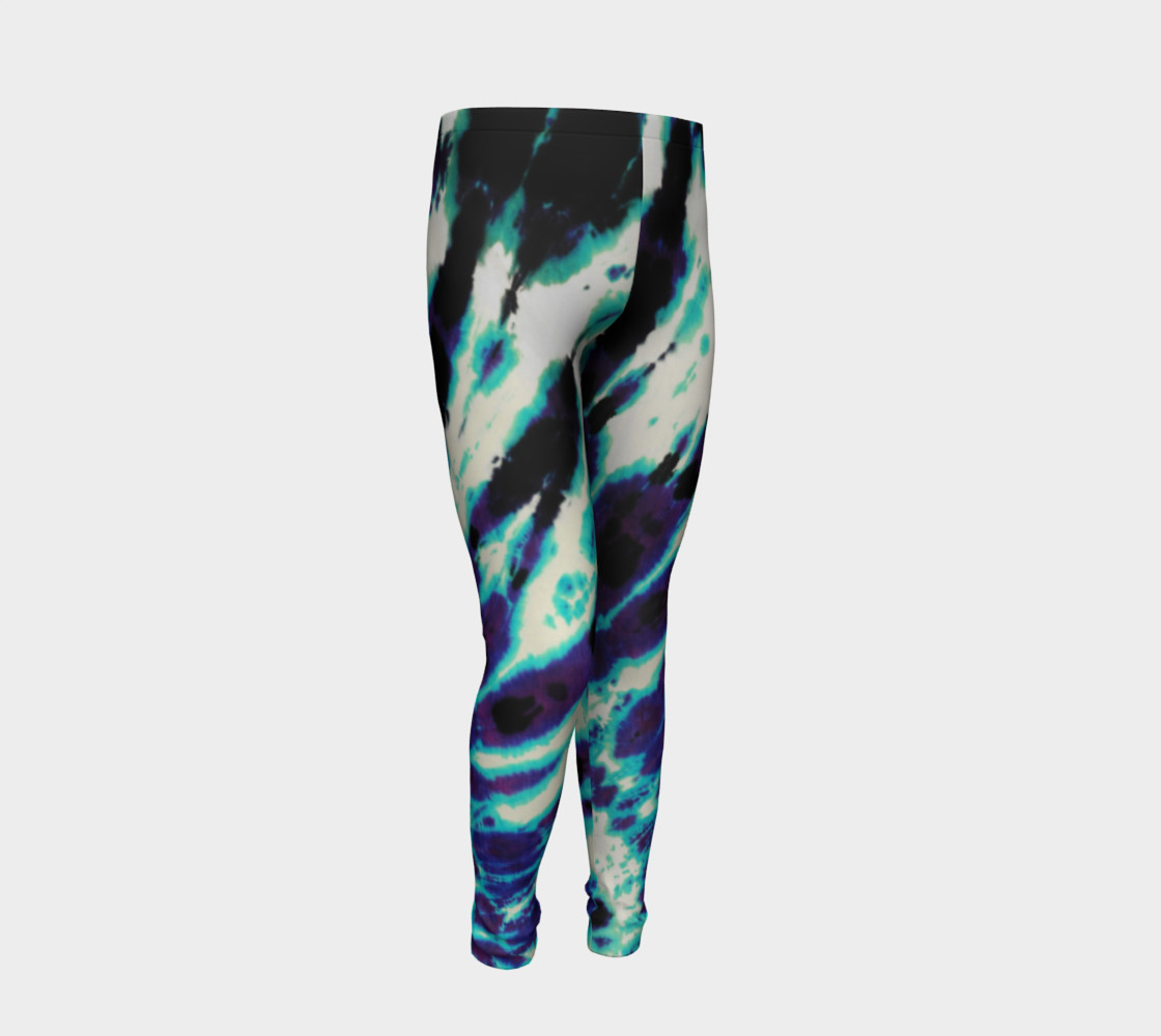 Tie Dye Youth Leggings preview #2