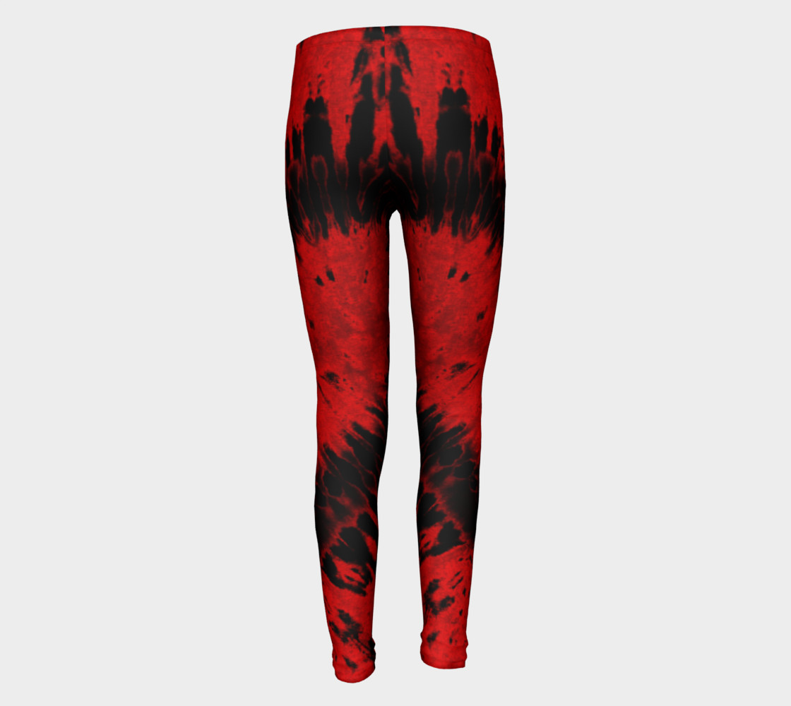 Red Black Heart Youth Leggings preview #5