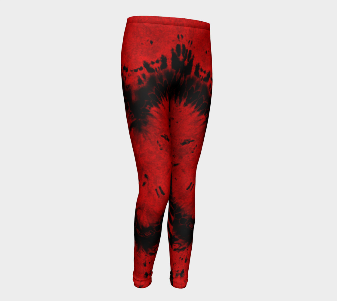 Red Black Heart Youth Leggings preview #1