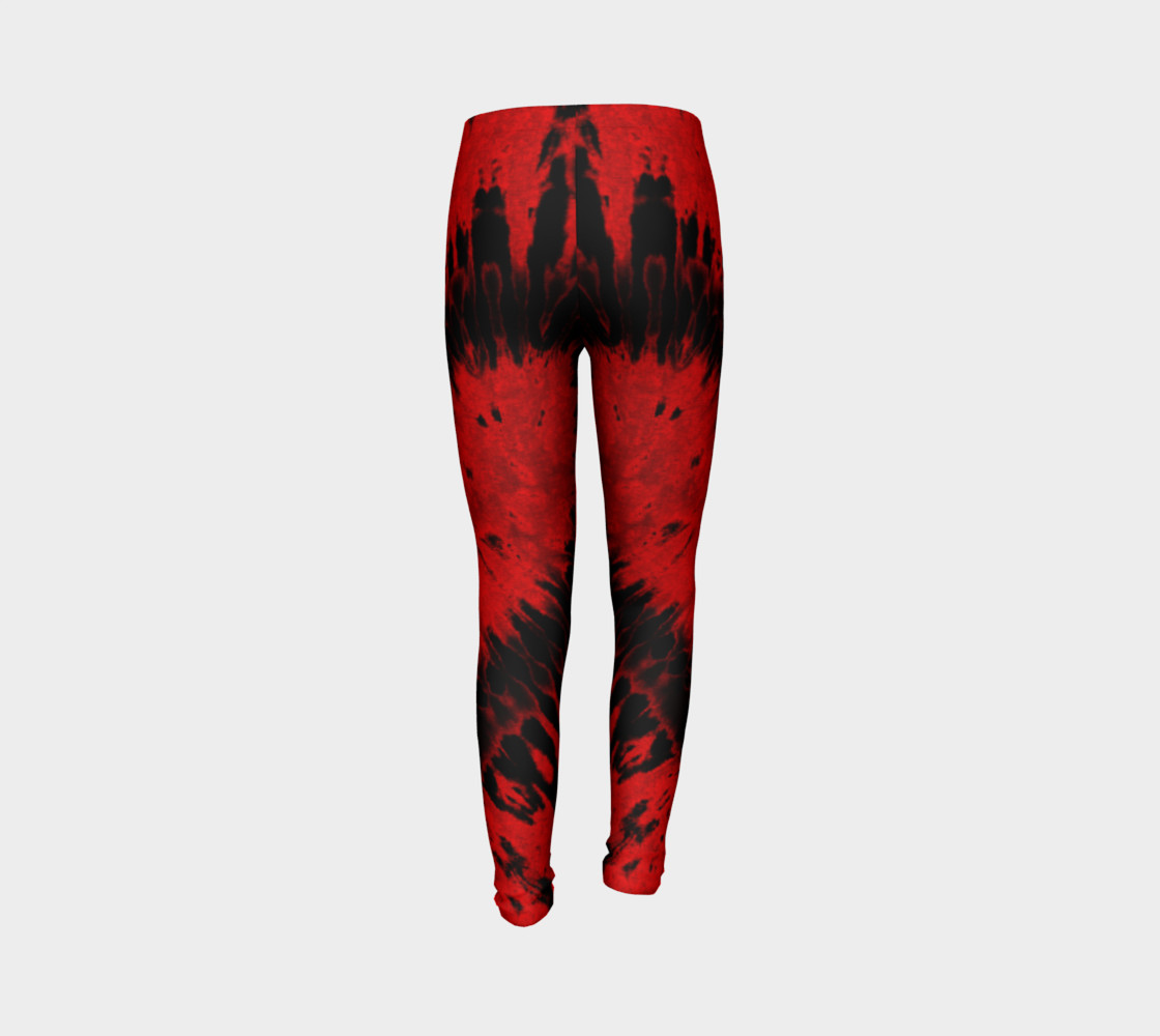 Red Black Heart Youth Leggings preview #7