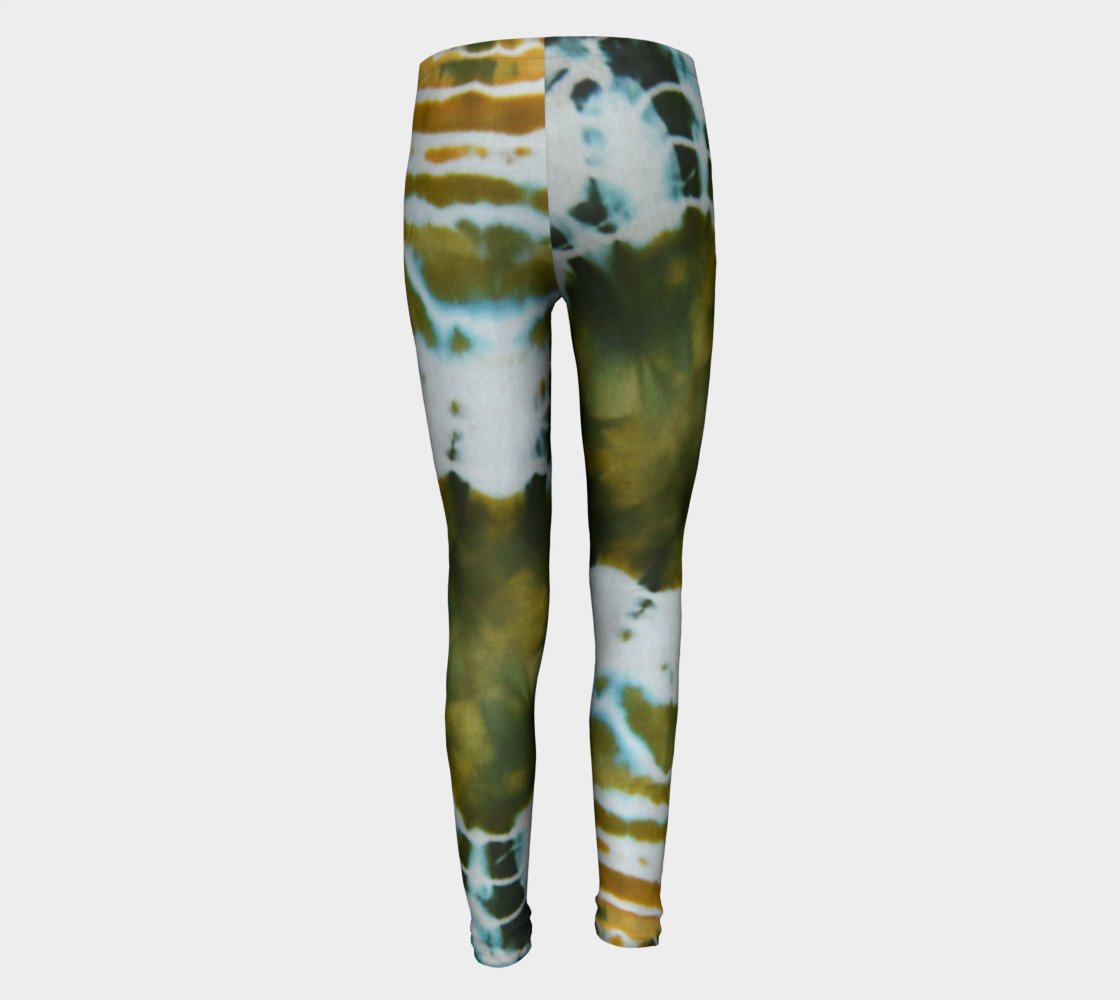 Green Geode Youth Leggings preview #5