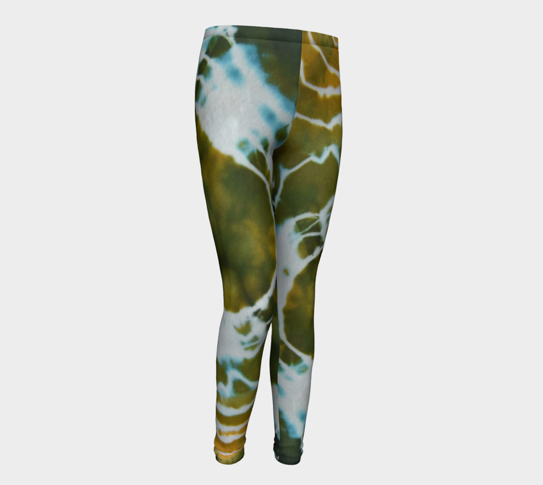 Green Geode Youth Leggings preview #1