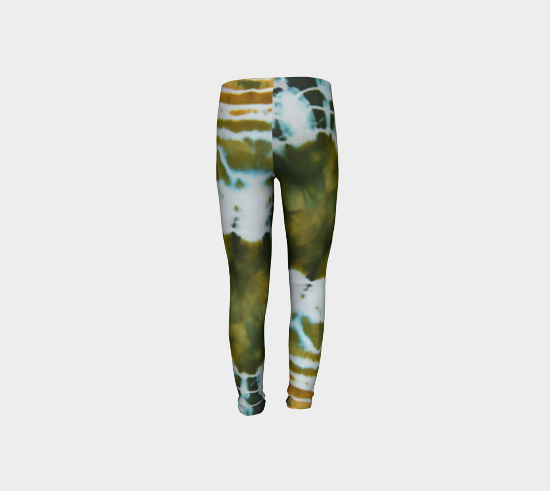 Green Geode Youth Leggings preview #8