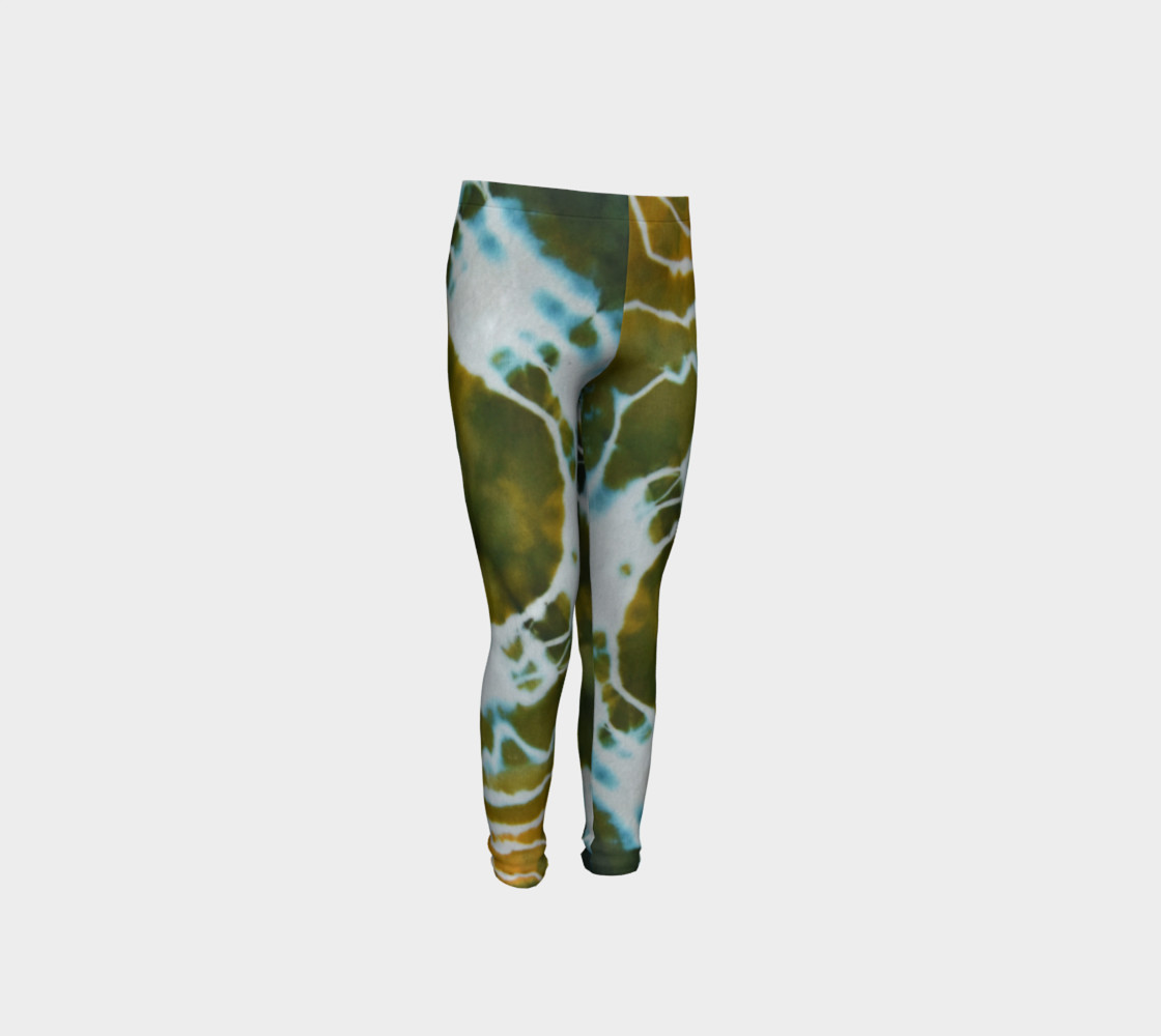 Green Geode Youth Leggings preview #4