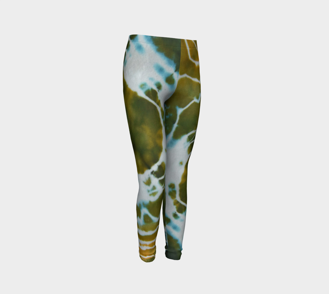 Green Geode Youth Leggings preview #3
