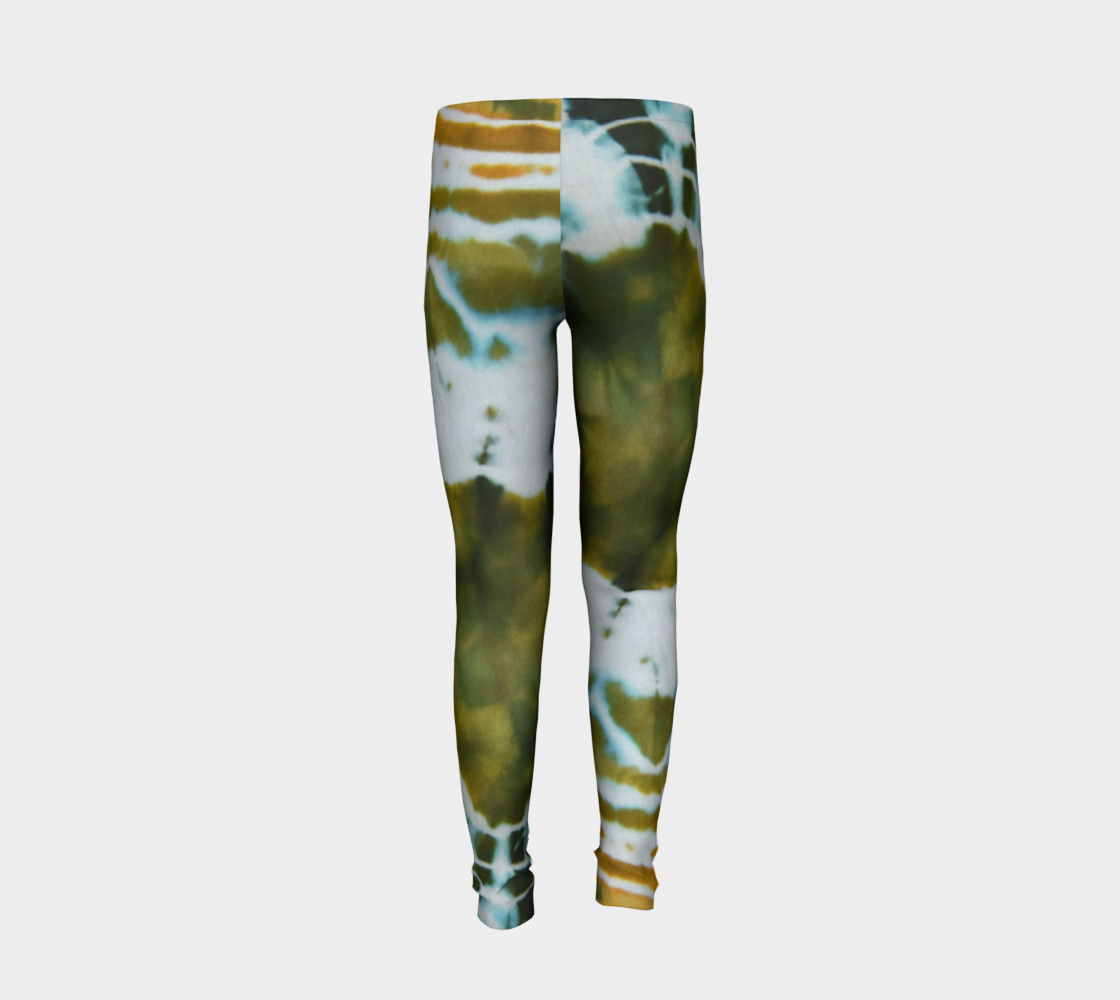 Green Geode Youth Leggings preview #6