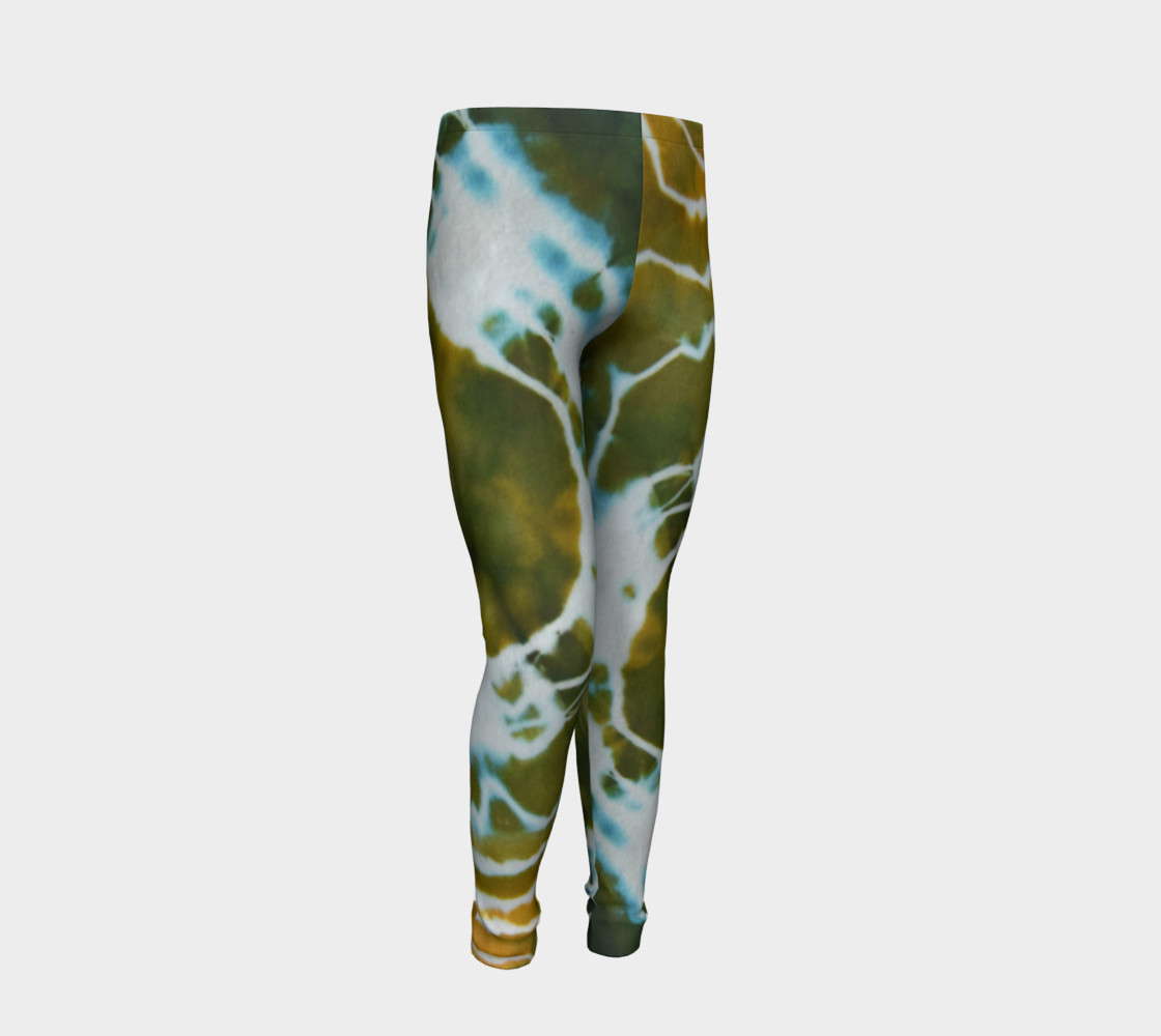 Green Geode Youth Leggings preview #2