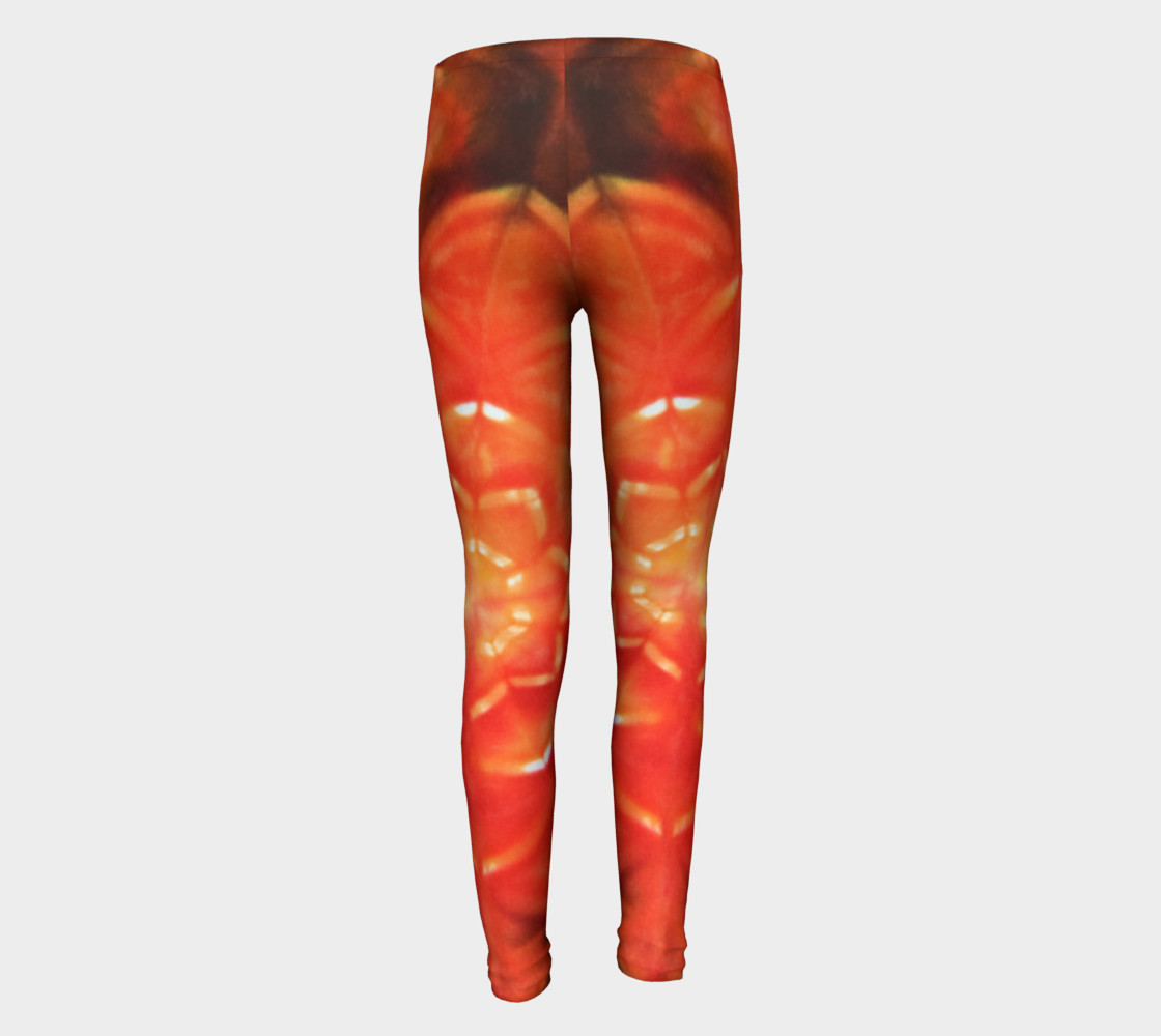 Orange Lotus Youth Leggings preview #5
