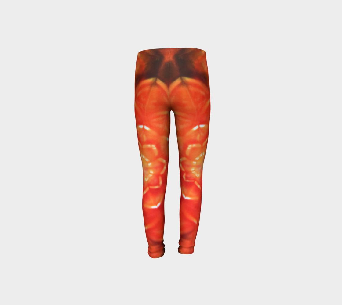Orange Lotus Youth Leggings preview #8