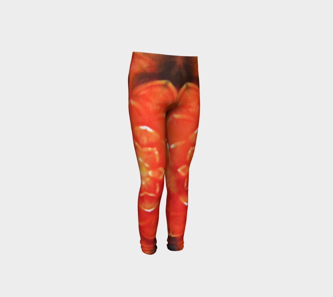 Orange Lotus Youth Leggings preview #4