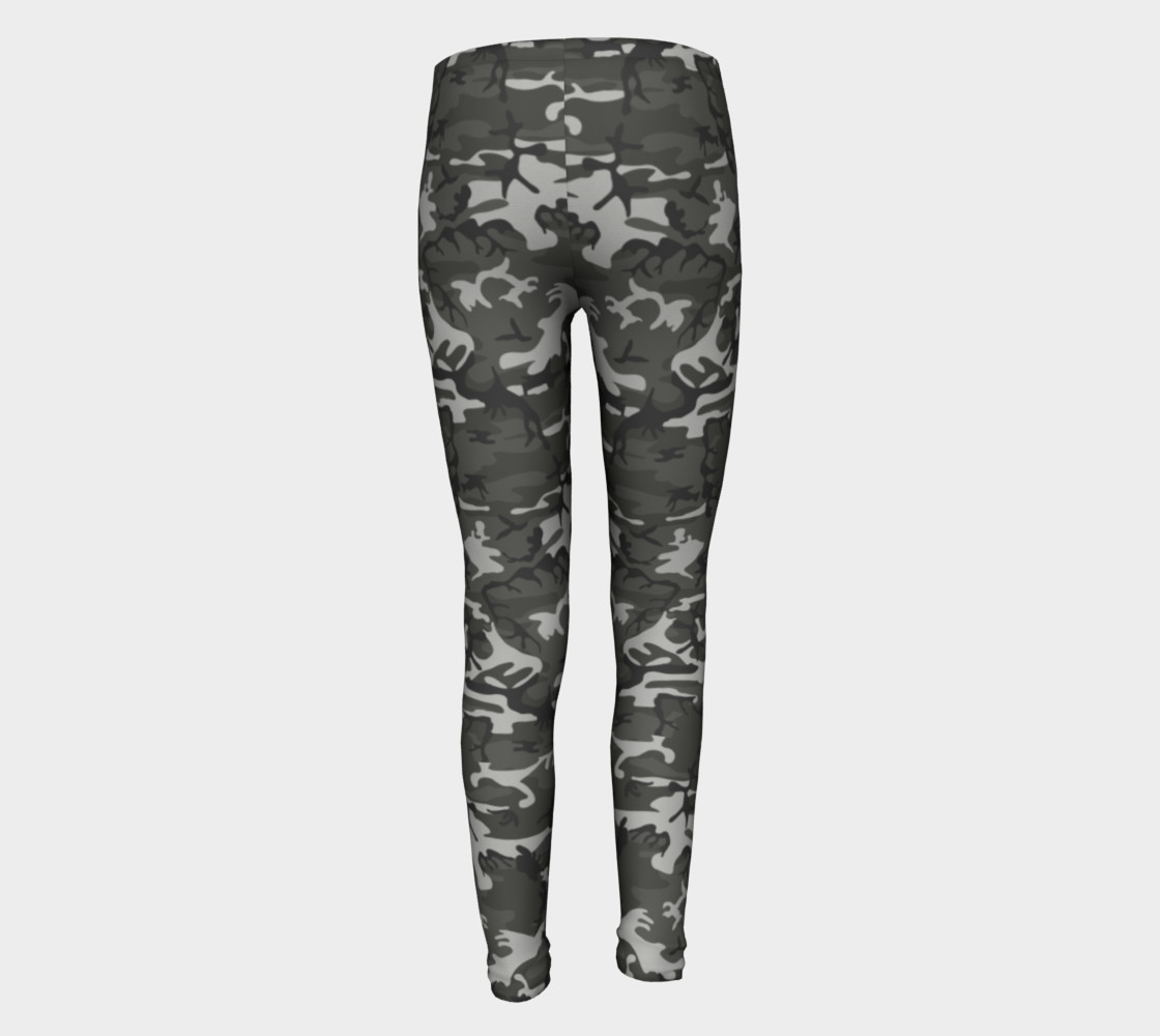 Winter Camo Youth Leggings preview #5