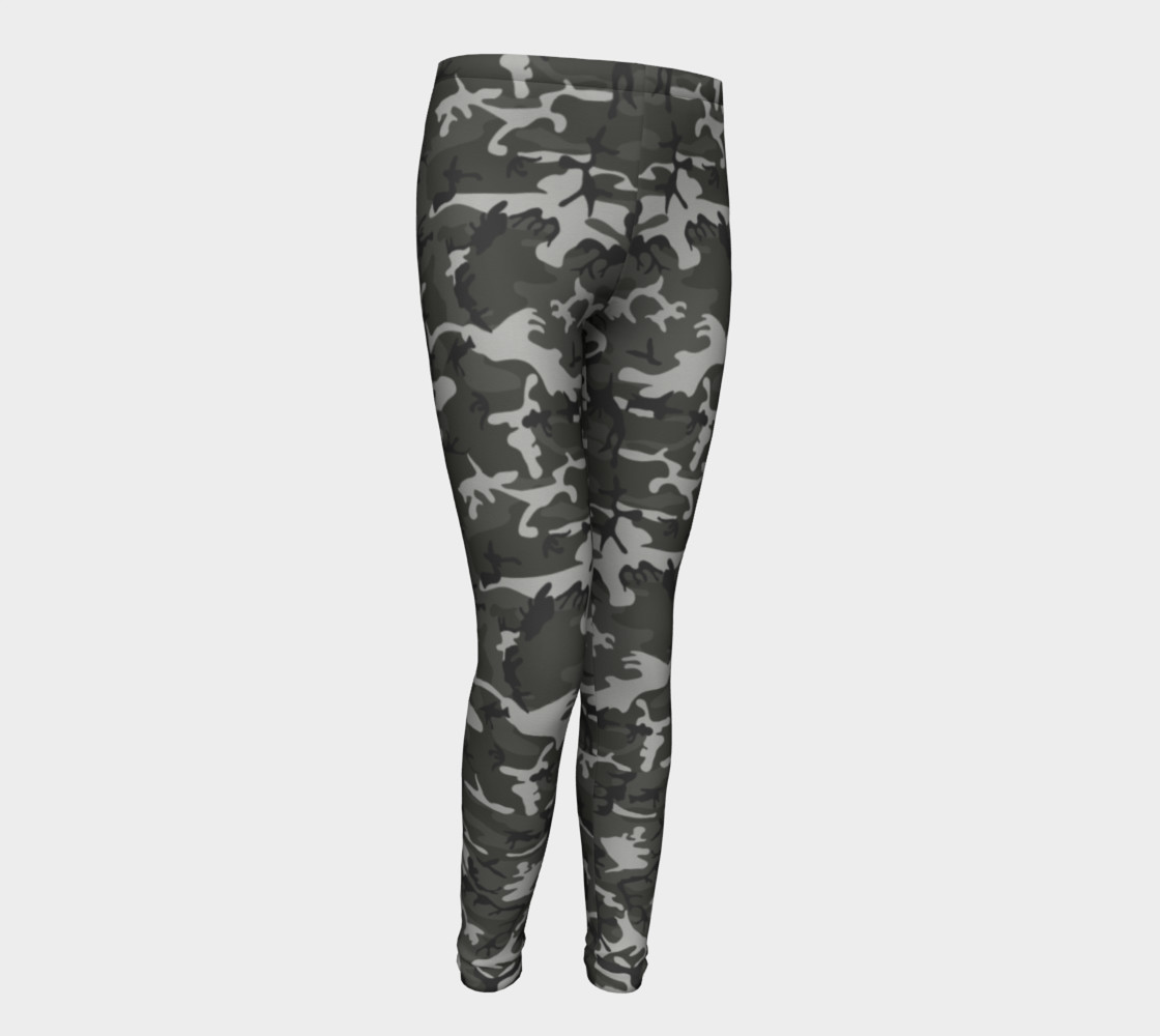 Winter Camo Youth Leggings preview #1