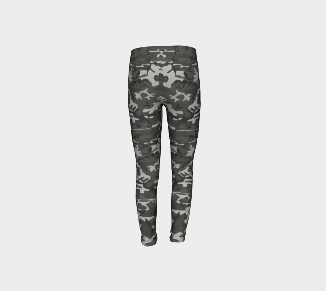 Winter Camo Youth Leggings preview #8