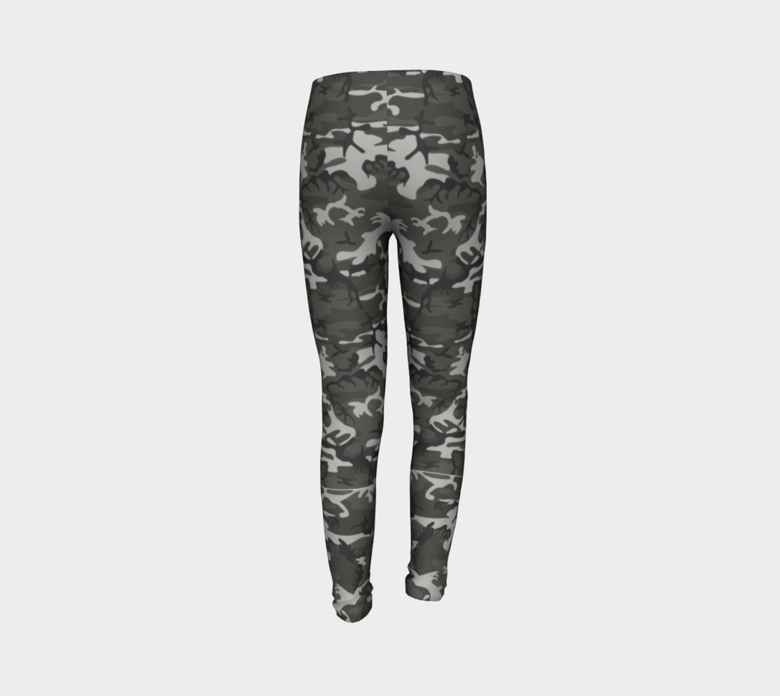Winter Camo Youth Leggings preview #7
