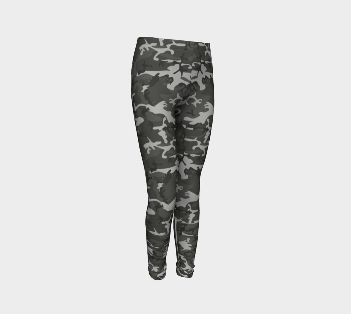Winter Camo Youth Leggings preview #3