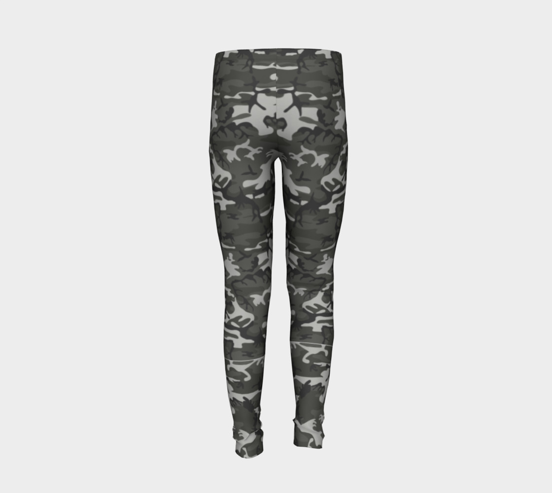 Winter Camo Youth Leggings preview #6