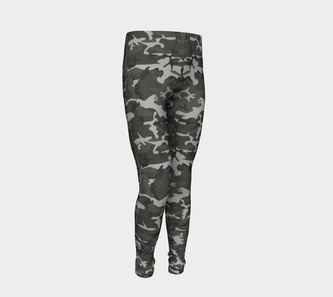 Winter Camo Youth Leggings preview #2