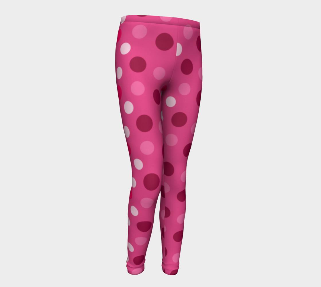 Aperçu de Cute Pink Polka Dot Leggings - Toddler #1