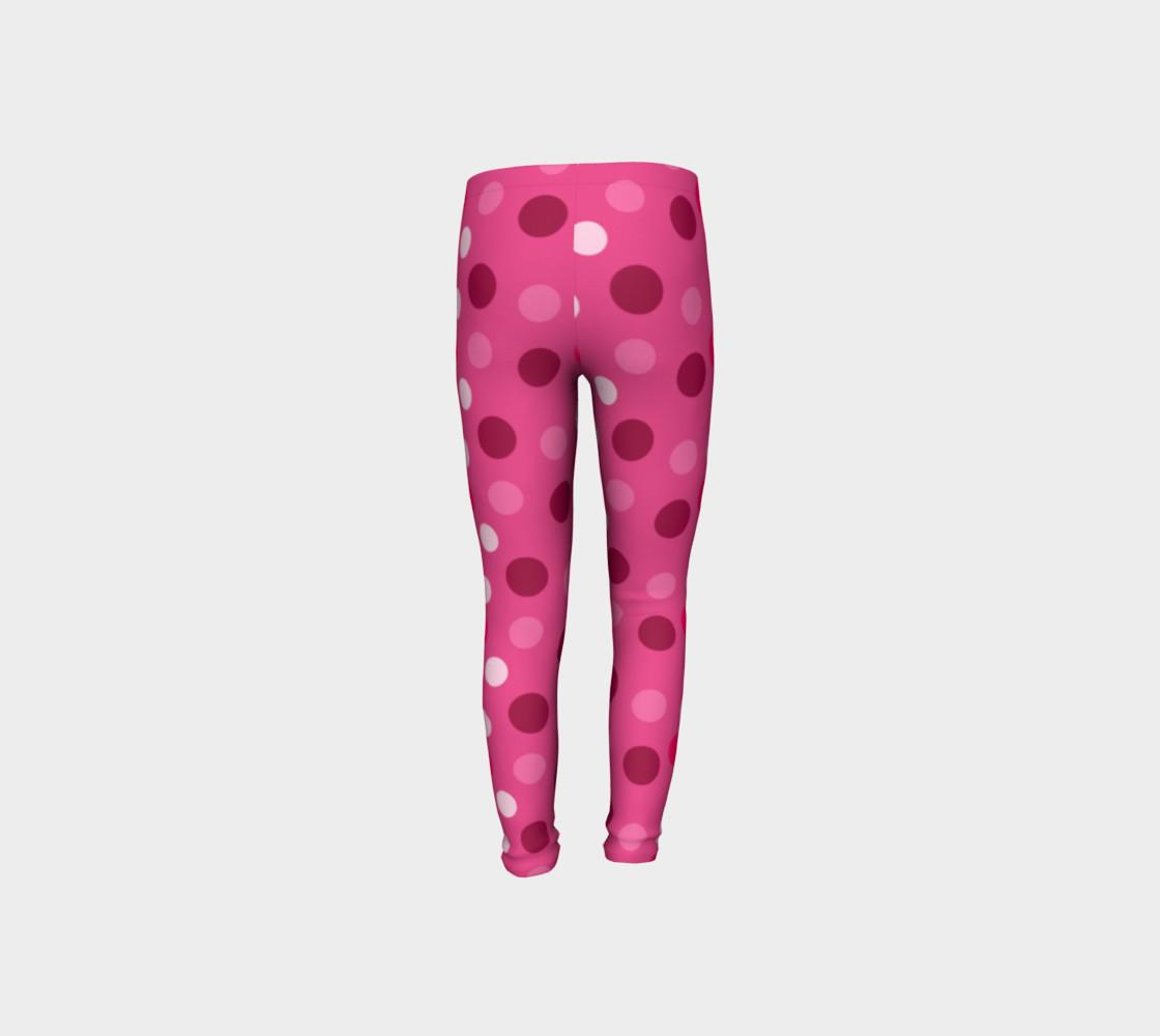 Aperçu de Cute Pink Polka Dot Leggings - Toddler #8