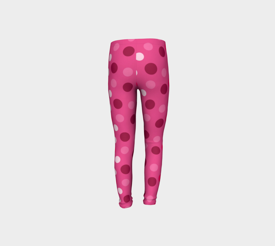 Cute Pink Polka Dot Leggings - Toddler preview #8