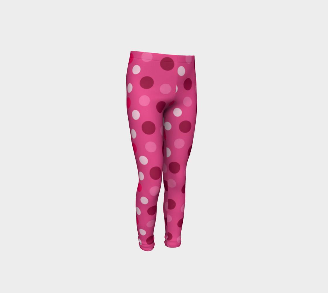 Aperçu de Cute Pink Polka Dot Leggings - Toddler #4