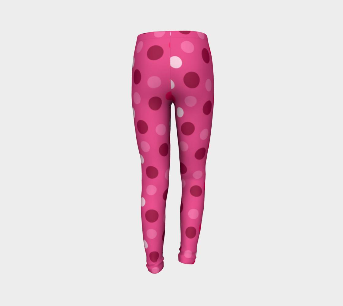 Aperçu de Cute Pink Polka Dot Leggings - Toddler #7