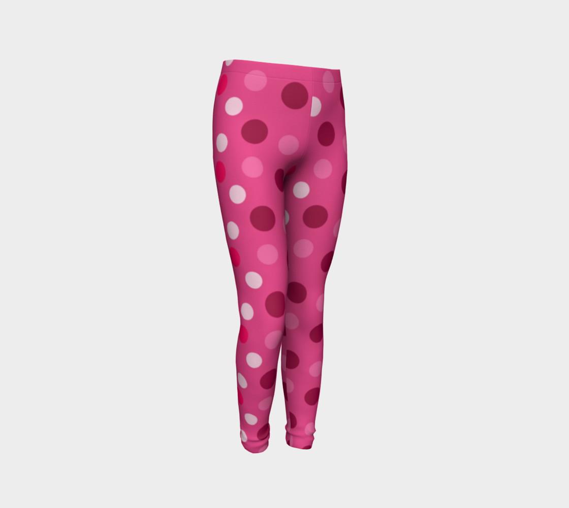 Cute Pink Polka Dot Leggings - Toddler preview #3