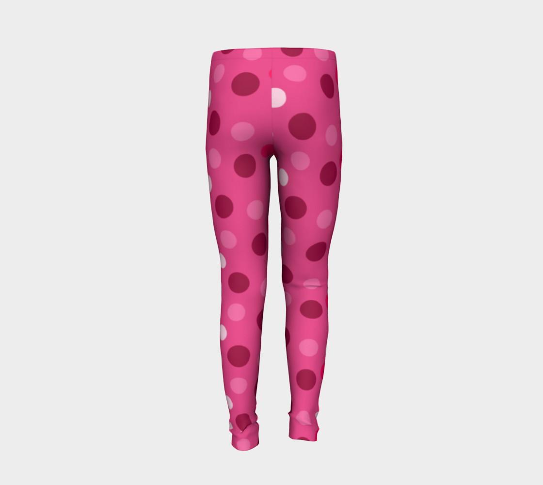 Aperçu de Cute Pink Polka Dot Leggings - Toddler #6
