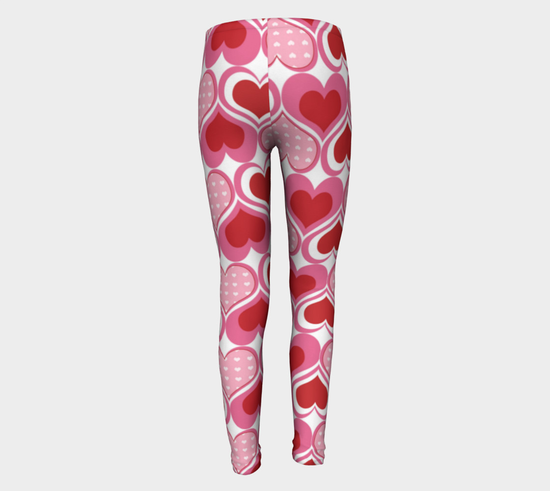 Super Cute Heart Leggings for Valentine's Day - Toddler preview #5