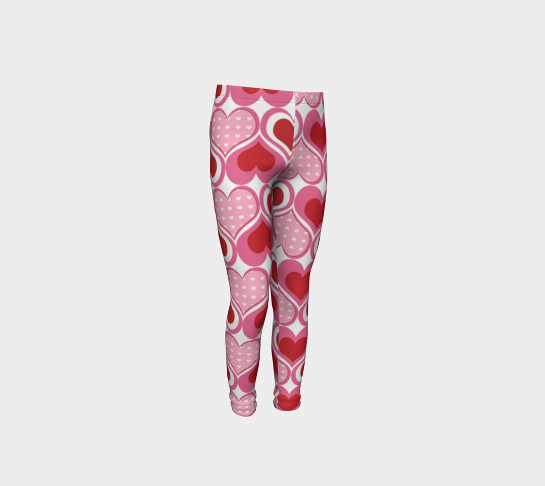 Super Cute Heart Leggings for Valentine's Day - Toddler preview #4
