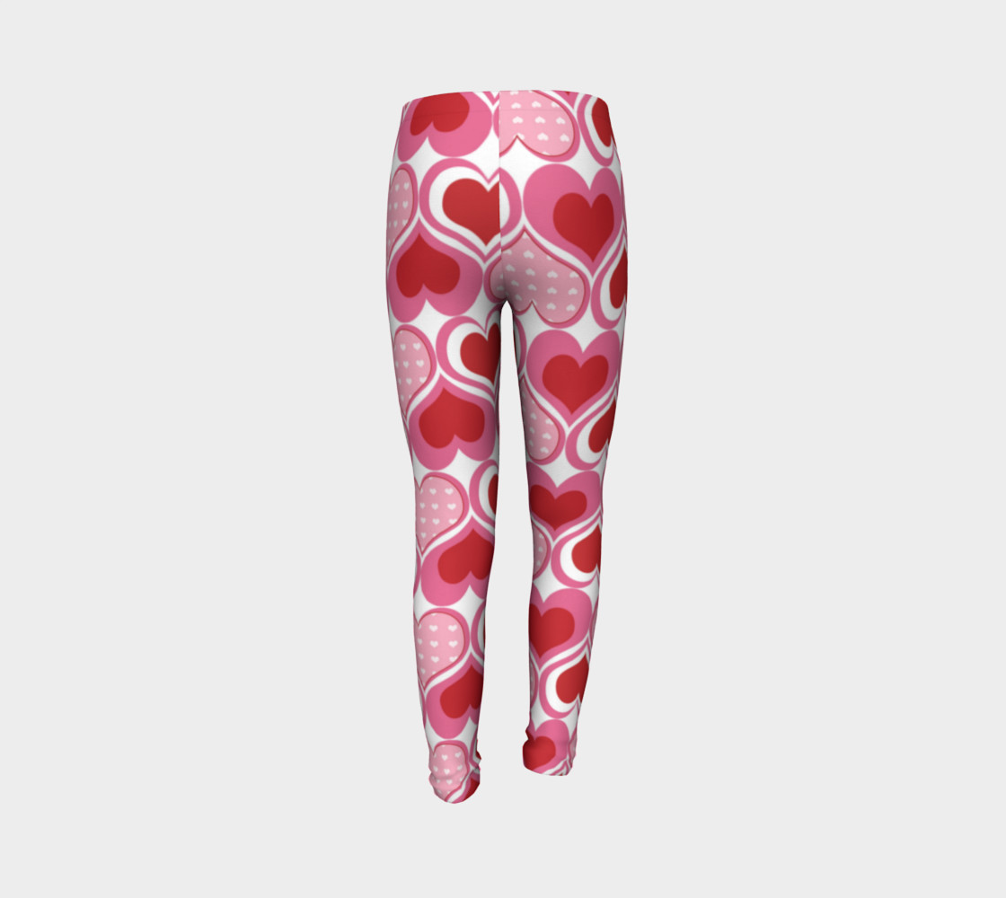 Super Cute Heart Leggings for Valentine's Day - Toddler preview #7