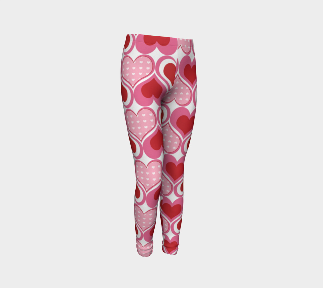 Super Cute Heart Leggings for Valentine's Day - Toddler preview #3
