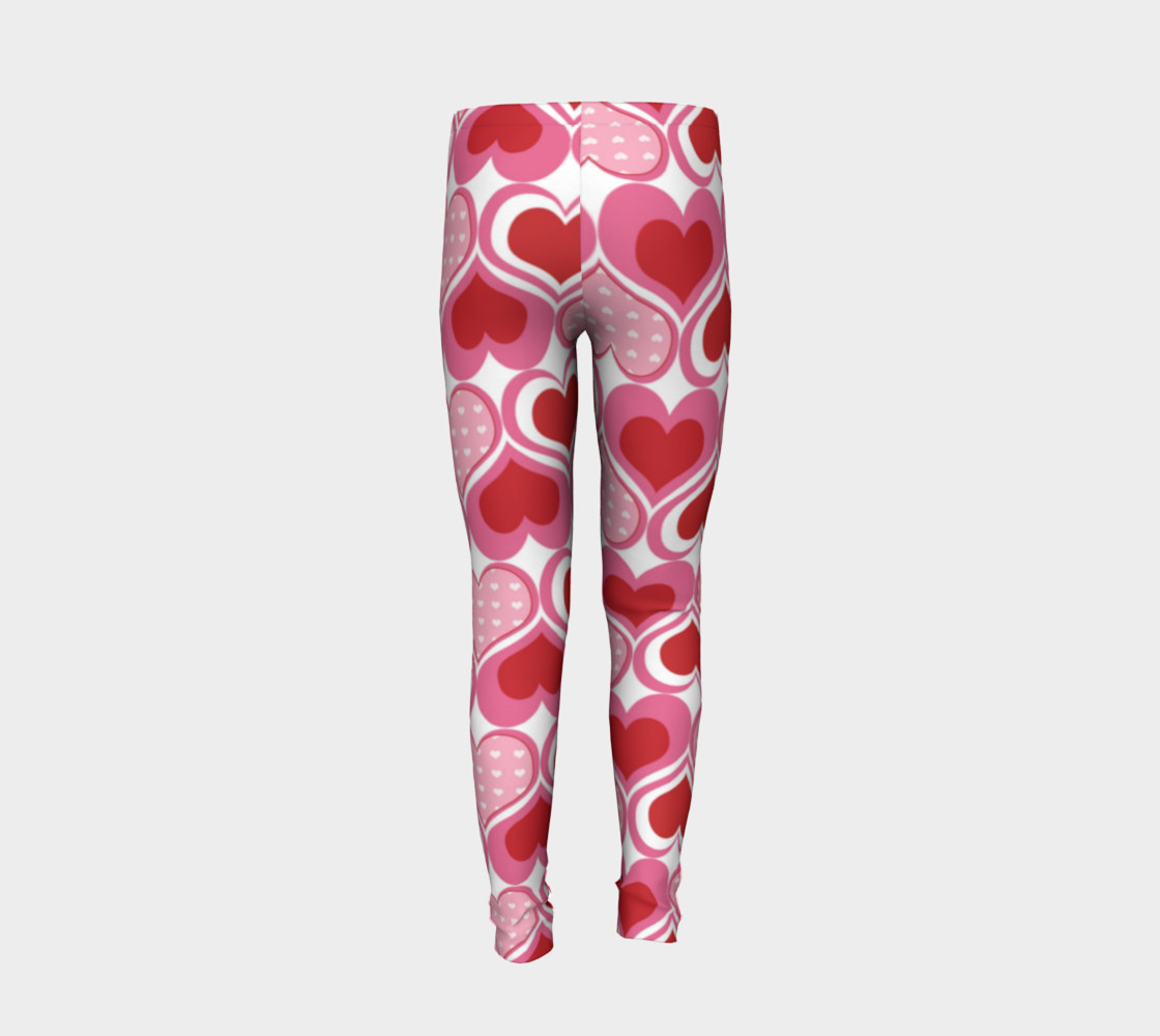 Super Cute Heart Leggings for Valentine's Day - Toddler preview #6