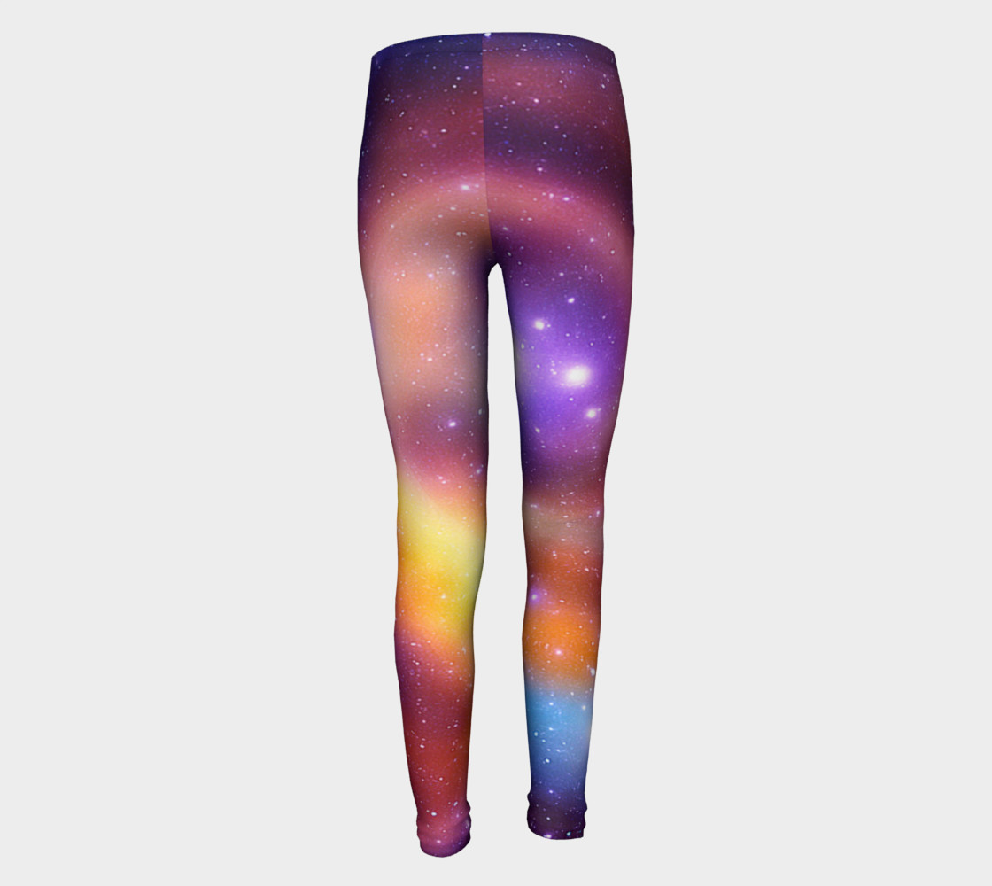 Galaxy Array of Stars and Gases Youth Leggings preview #5