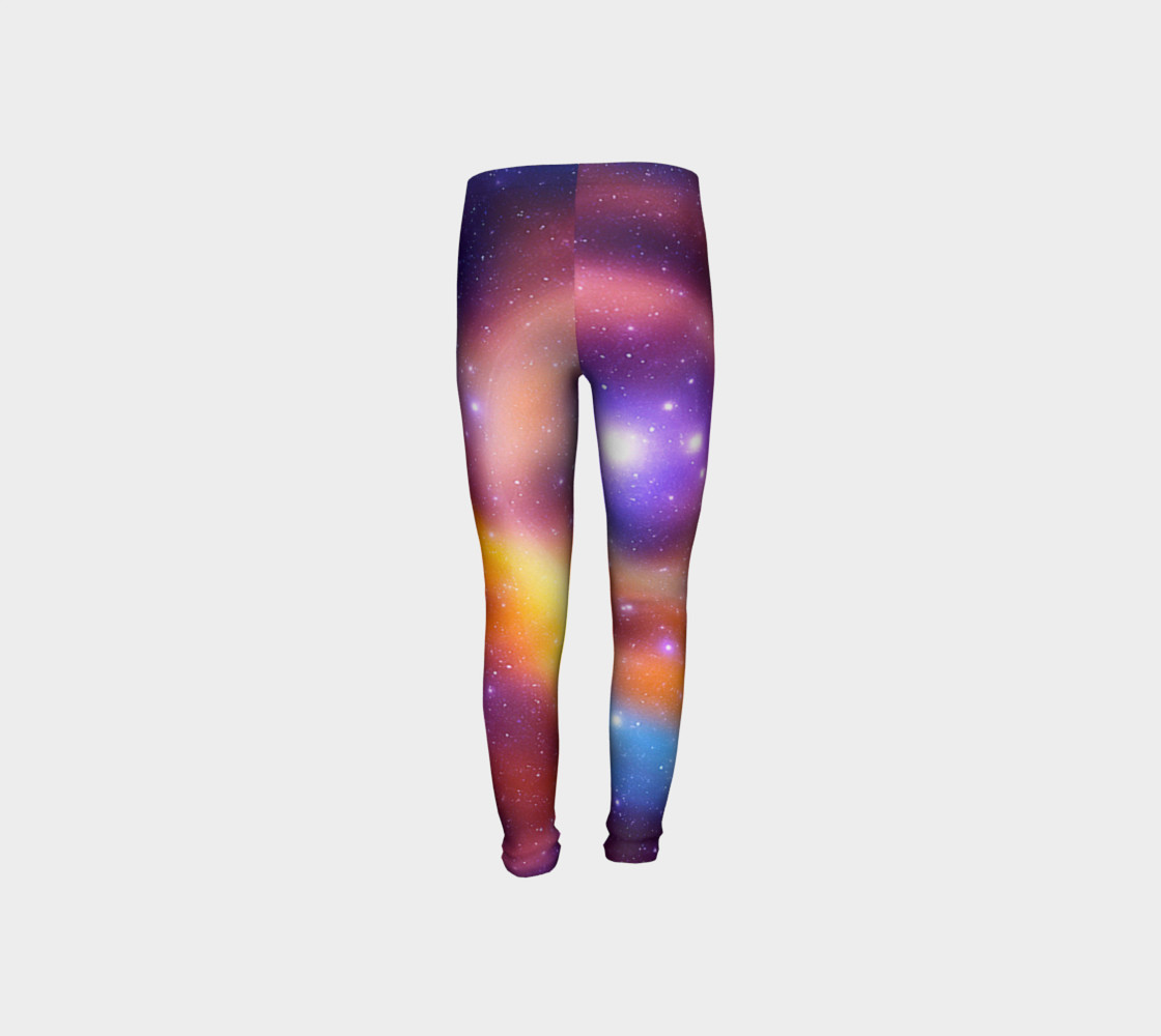 Galaxy Array of Stars and Gases Youth Leggings preview #8