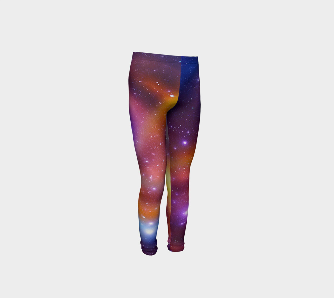 Galaxy Array of Stars and Gases Youth Leggings preview #4