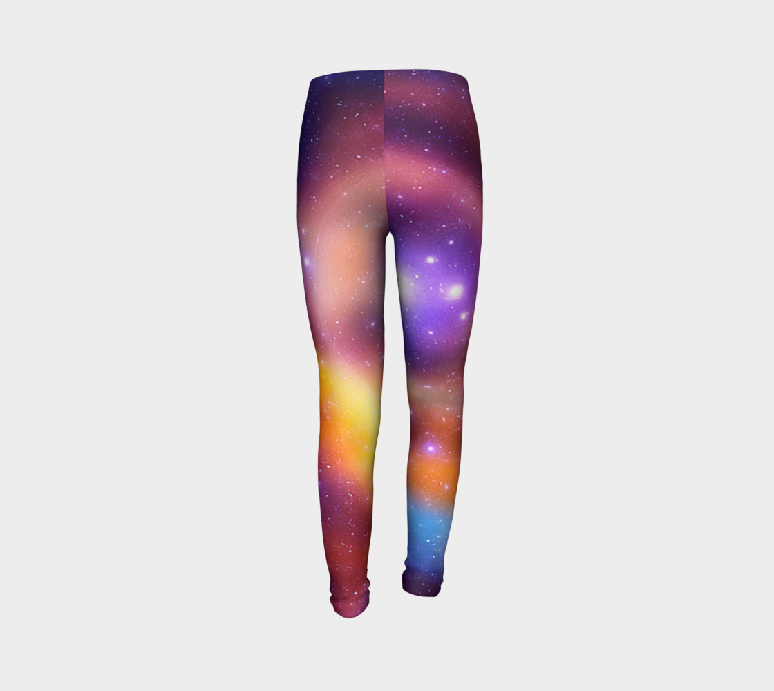 Galaxy Array of Stars and Gases Youth Leggings preview #7