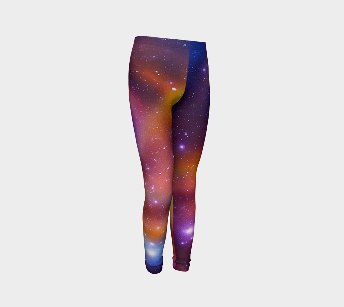 Galaxy Array of Stars and Gases Youth Leggings preview #3