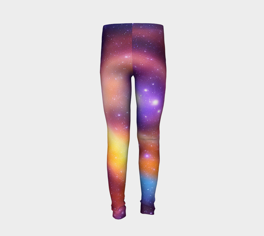 Galaxy Array of Stars and Gases Youth Leggings preview #6