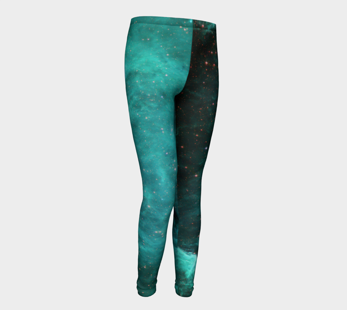 North America Nebula Infrared Turquoise Youth Leggings preview #1