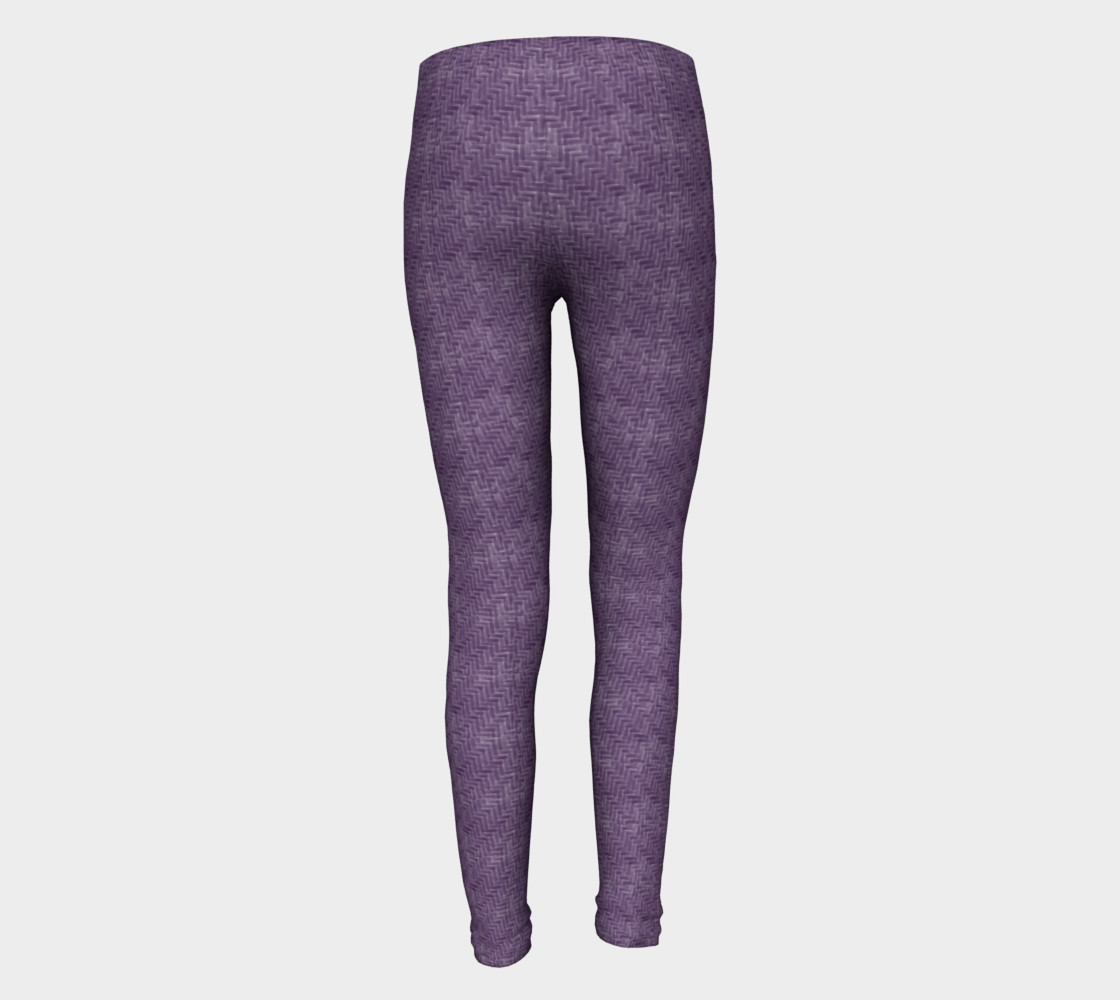 Purple Weave Youth Leggings preview #5