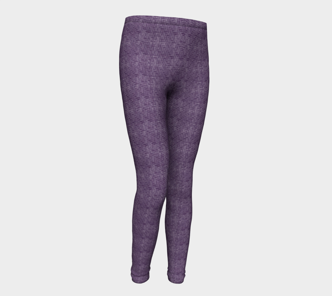 Purple Weave Youth Leggings preview #1
