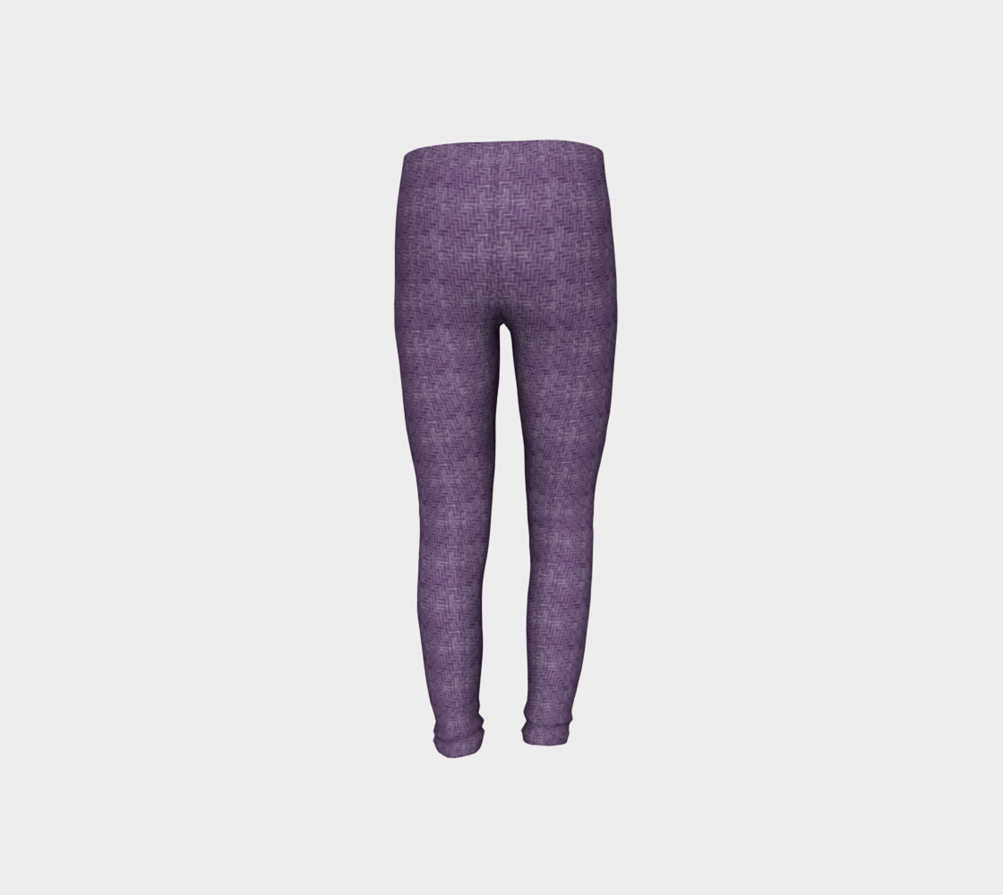 Purple Weave Youth Leggings preview #8