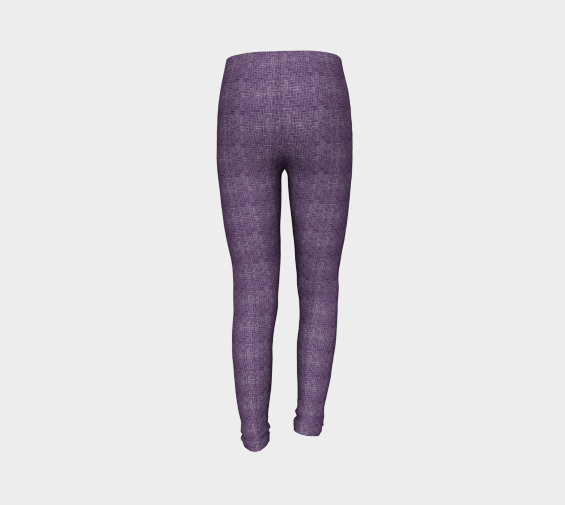 Purple Weave Youth Leggings preview #7