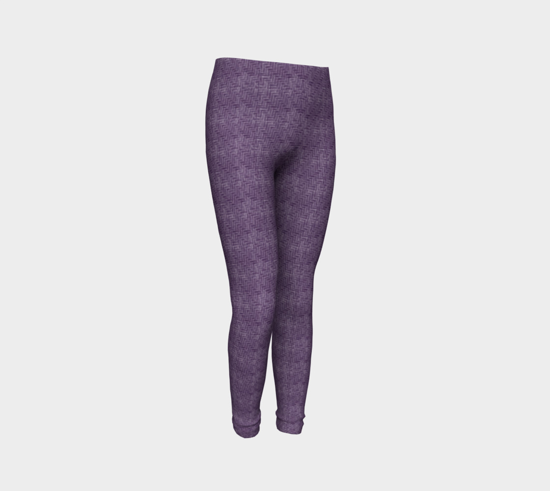 Purple Weave Youth Leggings preview #3