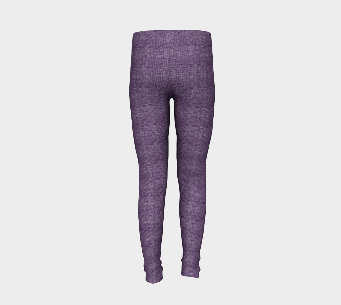 Purple Weave Youth Leggings preview #6